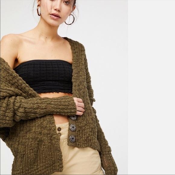 b726505ec60 Free People Sweaters | Fun Time Cardigan In Moss | Poshmark
